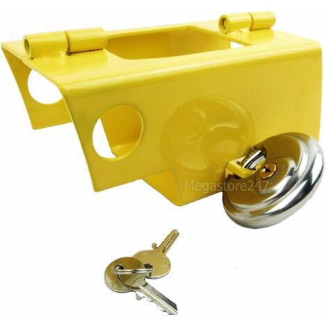 Hyfive Hitch Lock For Caravan/Trailer With Padlock Heavy Duty Steel