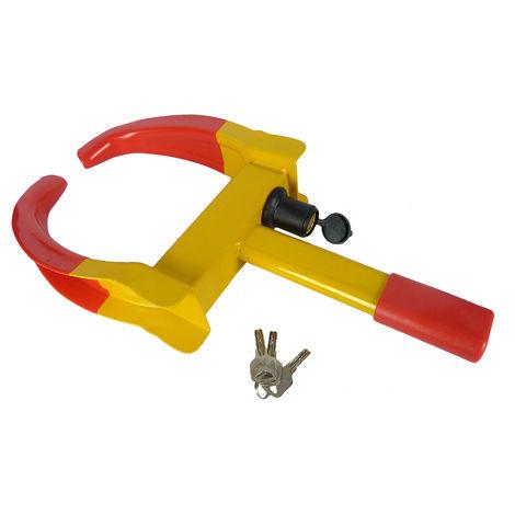 Hyfive - Wheel Clamp - Universal Trailer Security Caravan Lock - 2 Keys