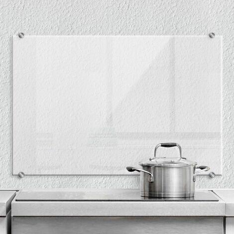 Hygienischer Spritzschutz Küche Wandschutz Herd Glasbild 60x40cm Transparent