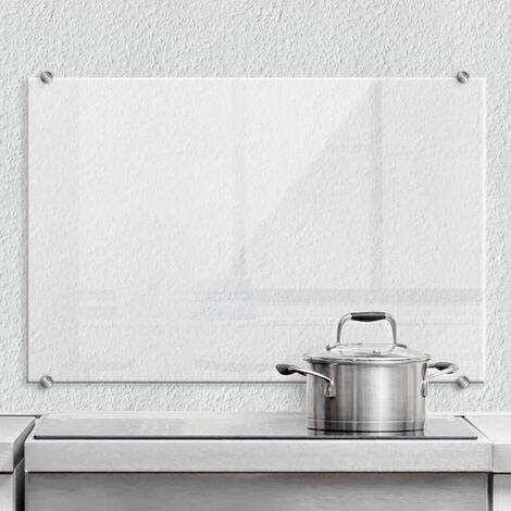 Hygienischer Spritzschutz Küche Wandschutz Herd Glasbild 80x60cm Transparent