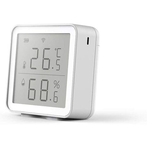 Hygromètre de thermomètre numérique précis WIFI, capteur dhumidité de la température, moniteur dhumidité de la température intérieure de maison intelligente, mini décoration de bureau