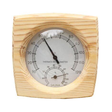Hygromètre Thermomètre en bois Accessoires de salle de sauna Thermomètre d'humidité à double compteur Équipement de sauna