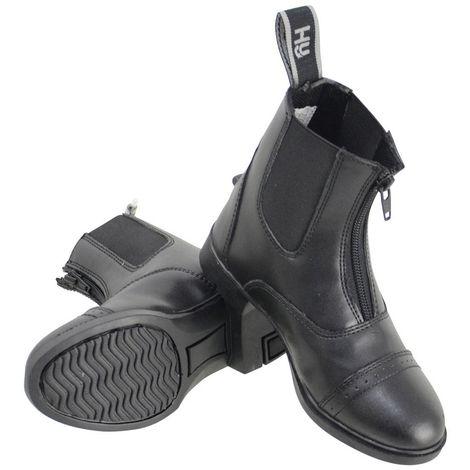 HyLAND Childrens/Kids York Synthetic Combi Leather Zip Jodhpur Boots