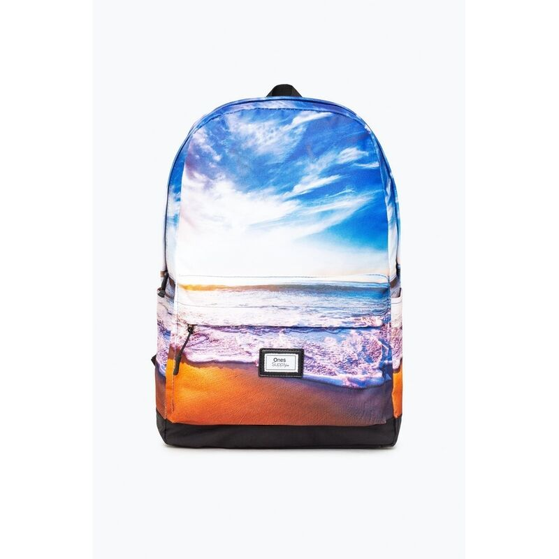 Image of Beach Tide The Ones Supply Core Backpack (One Size) (Blue/White/Orange) - Hype