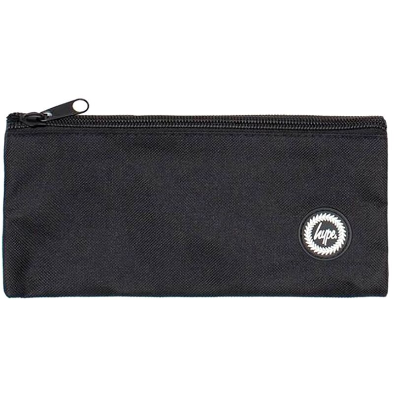 Image of Crest Pencil Case (One Size) (Black) - Hype