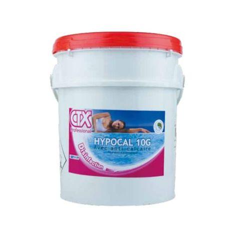 Hypochlorite de calcium HYPOCAL 10G - Pot de 25 KG