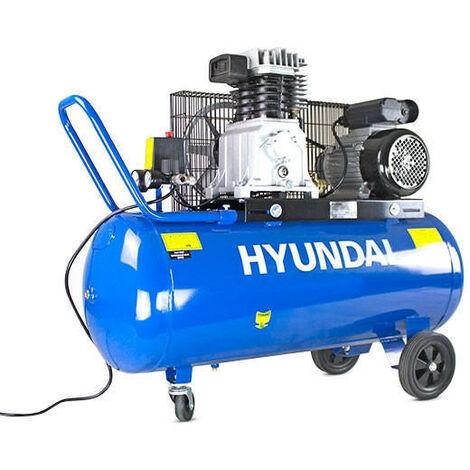 "main image of ""Hyundai 100 Litre Air Compressor, 14CFM/145psi, Twin Cylinder, Belt Drive 3hp   HY3100P"""