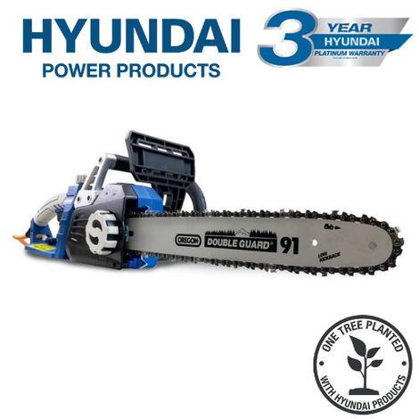 "Hyundai 2400W / 230V 16"" Corded Electric Chainsaw - HYC2400E"