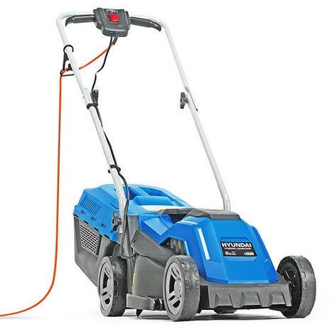 Hyundai 33cm Corded Electric 1200w/230v Roller Mulching Lawnmower   HYM3300E