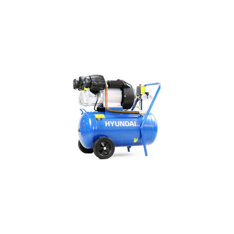 Hyundai 50 Litre Air Compressor, 14CFM/116psi, Direct Drive V-Twin, 3HP   HY3050V