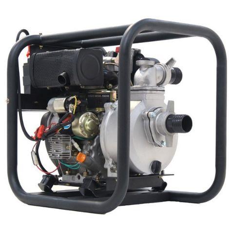 Hyundai 50mm Electric Start Diesel Water Pump DHY50E - 221cc diesel engine