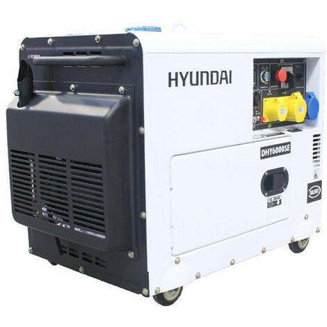 "main image of ""Hyundai 5.2kW/6.5kVA Silenced Standby Single Phase Diesel Generator   DHY6000SE"""