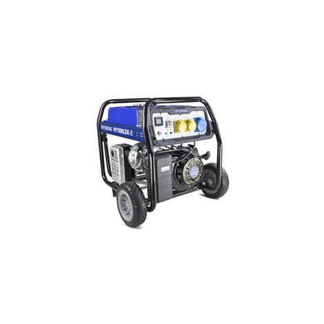 Hyundai 5.5kW / 6.8kVa* Recoil and Electric Start Site Petrol Generator | HY7000LEK-2