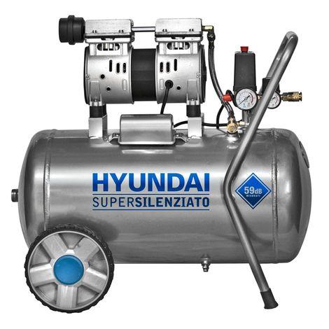 Hyundai 65701 750w compressore ad aria 50 litri silenziato