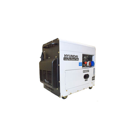 Hyundai 6kW/7.5kVA Multi-phase - Single and Three Phase - Silenced Long Run Standby Diesel Generator | DHY8000SELR-T