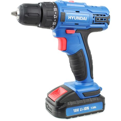 Hyundai Cordless Drill HY2175 18v 1.5AH Li-Ion with 89 Piece Drill Accessory Kit