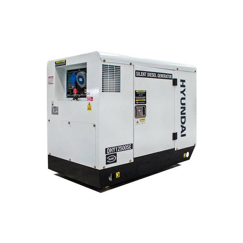 Image of Hyundai 10kW/12.5kVA 230v Mains Standby Silenced Diesel Generator | DHY12500SE