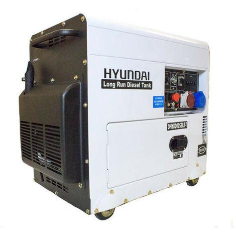 Hyundai DHY8000SELR-T 6kW Multi-phase - Single & 3-phase - Silenced Long Run Diesel Generator