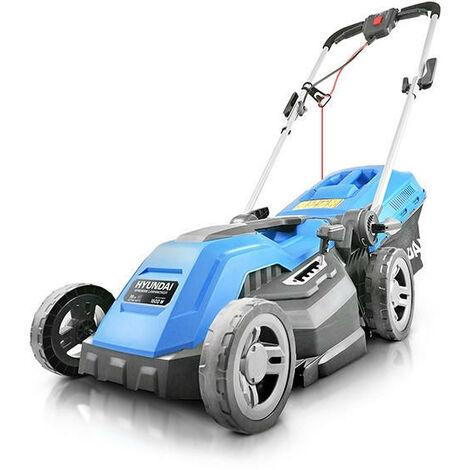 Hyundai Electric 1600W / 230V 38cm Rotary Rear Roller Mulching Lawnmower | HYM3800E