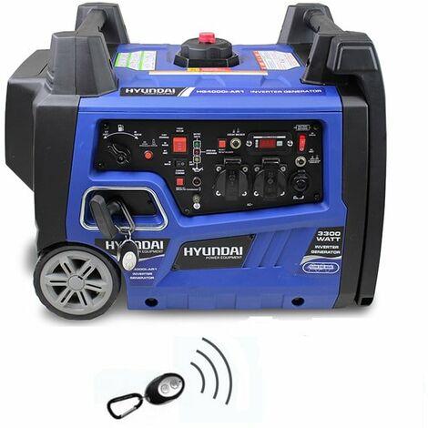 HYUNDAI Groupe électrogène démarreur élec 3300W HG4000iAR1 Inverter télécommande