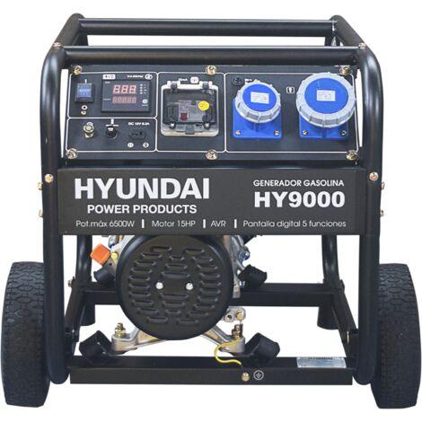 HYUNDAI-HY-HY9000K GENERADOR HYUNDAI GASOLINA 3000rpm con ruedas