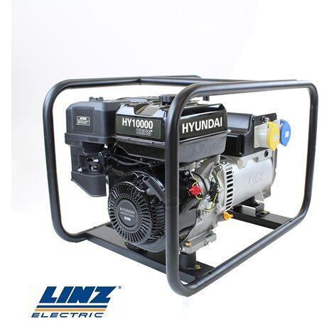 Hyundai HY10000 Hire Pro 7Kw Recoil Start Site Petrol Generator