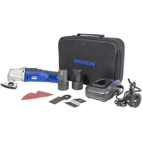 Hyundai HY2151 12V Oscillating Multi-tool, 2 x 1.3Ah Batteries, Charger and Carry Case