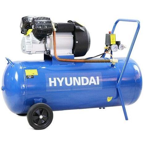 Hyundai HY30100V 14CFM, 3HP, 100 Litre V Twin Direct Drive Air Compressor