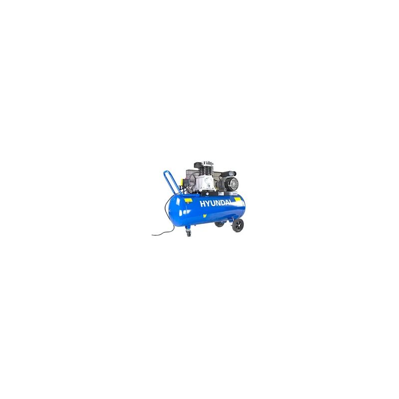 Image of Hyundai 100 Litre Air Compressor, 14CFM/145psi, Twin Cylinder, Belt Drive 3hp | HY3100P