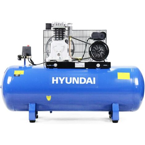 Hyundai HY3150S 150L Litre Belt Drive Electric Air Compressor 14cfm 145psi 10bar, 3hp, Air Compressor, Blue