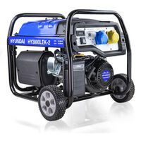 Hyundai HY3800LEK-2 3.2kW / 4.00kVa* Electric Start Site Petrol Generator
