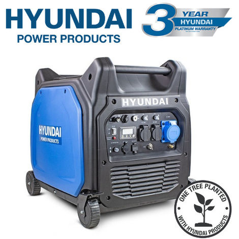 Hyundai HY6500SEi 230V Petrol 6600W/6.6kW Remote Electric Start Portable Inverter Generator