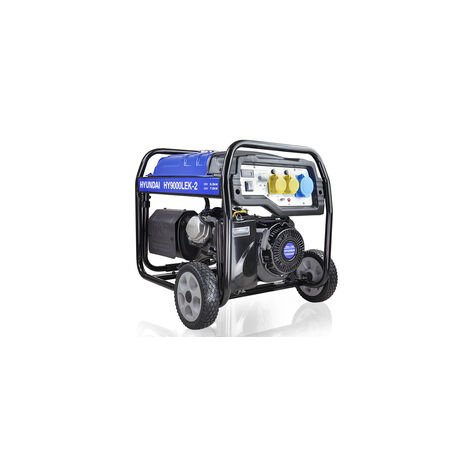 Hyundai HY9000LEK-2 7kW / 8.75kVa* Recoil & Electric Start Site Petrol Generator