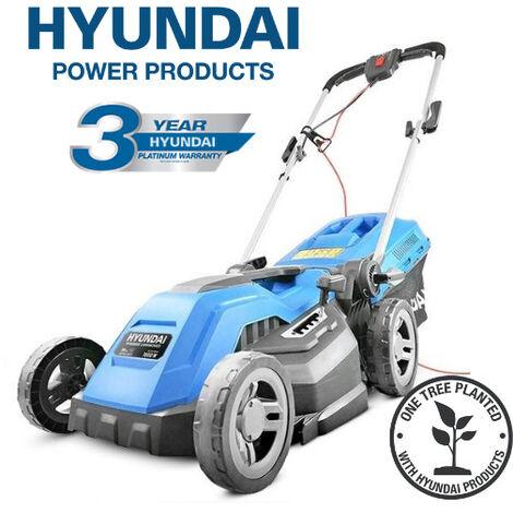 "main image of ""Hyundai HYM3800E Electric 1600W / 230V 38cm Rotary Rear Roller Mulching Lawnmower"""