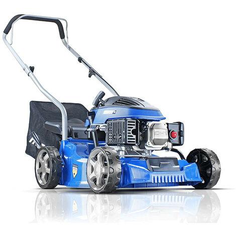 "main image of ""Hyundai HYM400P 79cc 400mm Petrol Lawnmower"""