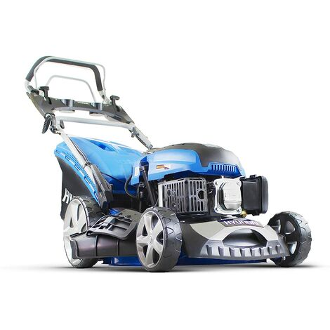 "main image of ""Hyundai HYM460SPE 139CC 4-Stroke Self Propelled Electric Push Button Start Petrol Lawn Mower, Blue"""