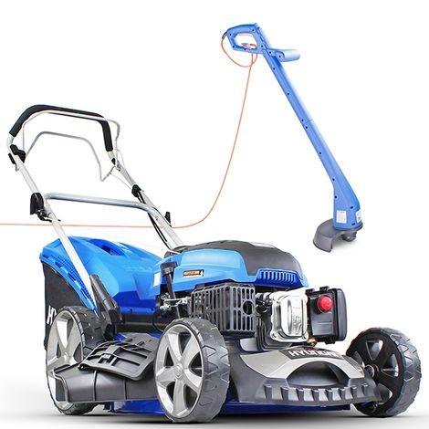 """Hyundai HYM510SP 20"""" Self Propelled Petrol Lawn Mower and Hyundai HYTR250E Electric Grass Trimmer BUNDLE"""