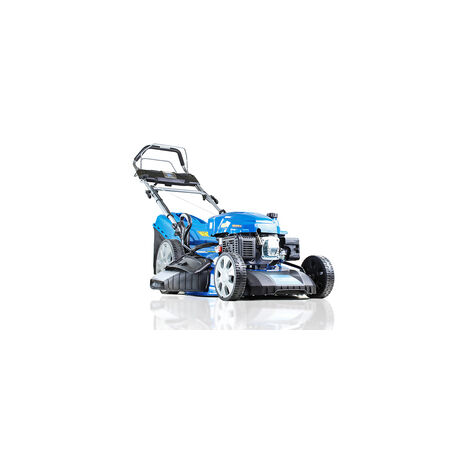 "Hyundai HYM530SPE Self-Propelled Petrol Lawn Mower, (rear wheel drive), 21""/53cm Cut Width, Electric (push button) Start With Pull-Cord Back -Up - Includes 600ml Engine Oil"