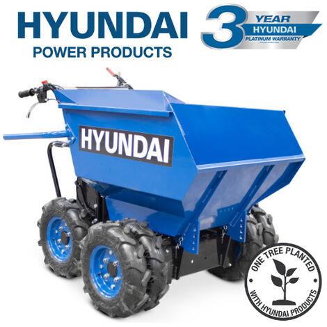 Hyundai HYMD500 196cc 4-Wheel Drive 500kg Payload Mini Dumper / Power Barrow