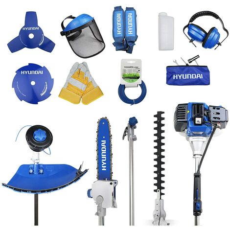 Hyundai HYMT5200 52cc Petrol Garden Multi Function Tool (Hedge, Chainsaw, brushcutter, Grass Trimmer and Extension Shaft) -3 Years Warranty