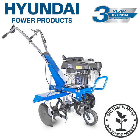 "main image of ""Hyundai HYT150 2.7kW 150cc 4-Stroke Petrol Garden Tiller, Cultivator, Rotovator & Rototiller"""