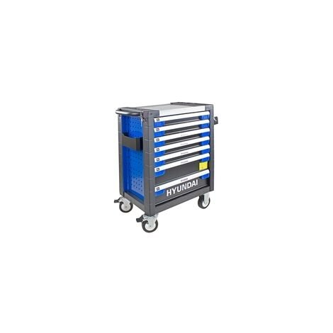 Hyundai HYTC9003 305 Piece 7 Drawer Caster Mounted Roller Tool Chest Cabinet