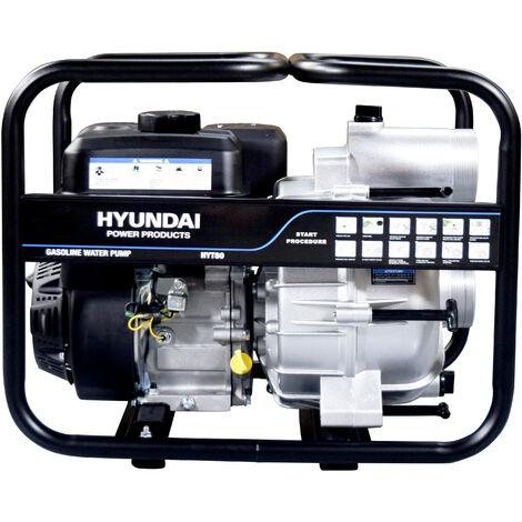 """HYUNDAI. Motobomba gasolina 2""""/ 50mm, 28kg. Aguas sucias."""