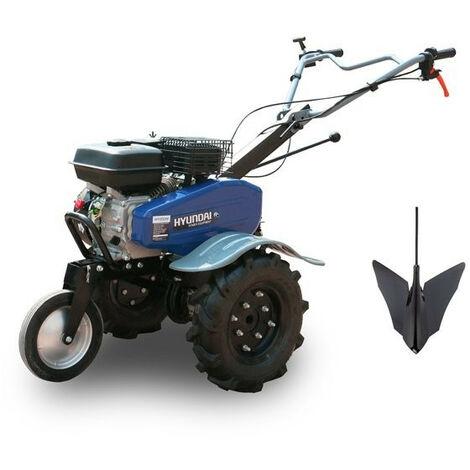 HYUNDAI Motoculteur motobineuse charrue + 6 fraises HMTC100-1