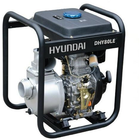 HYUNDAI motopompe thermique-296cc-DHY80LE diesel