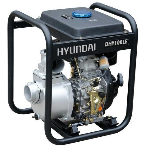 HYUNDAI motopompe thermique diesel 406cc 10cv DHY100LE démarreur élec