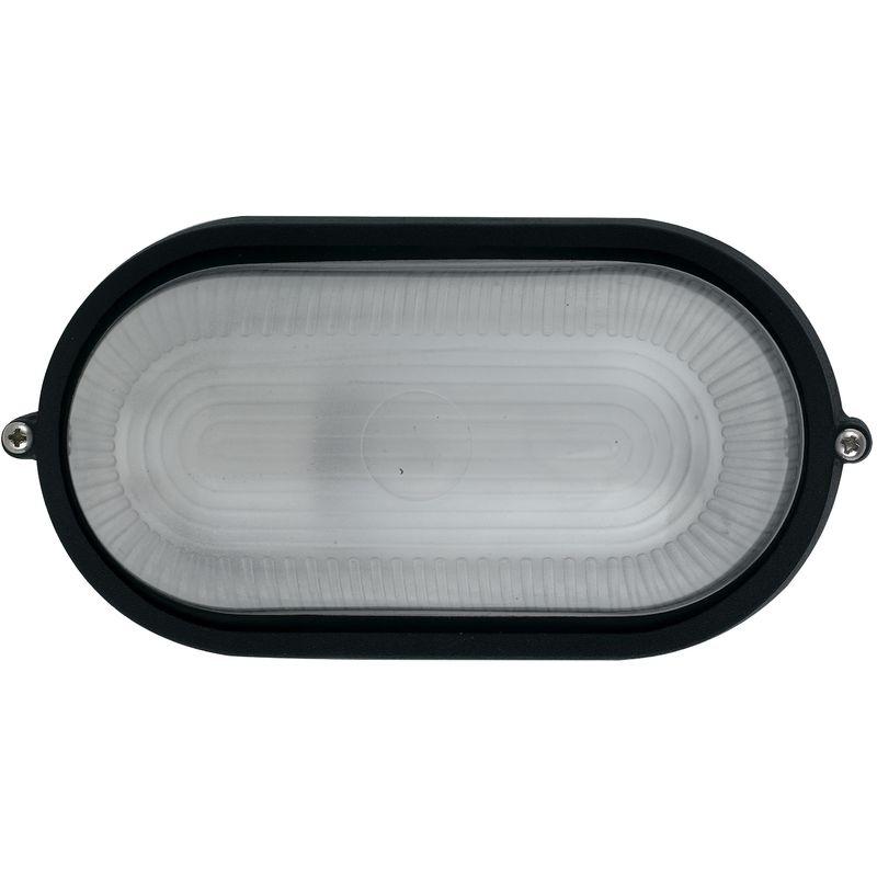 Plafoniera Da Esterno Ovale : I ibiza s nero plafoniera alluminio ovale diffusore