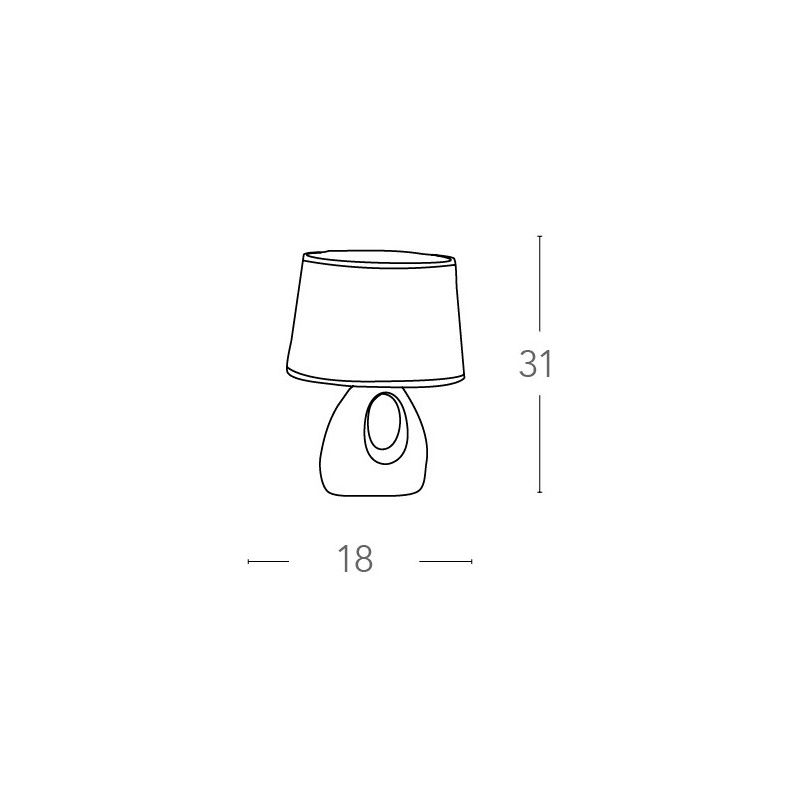 I lpe018 vde abat jour verde paralume tessuto fusto forato ceramica lampada moderna e14