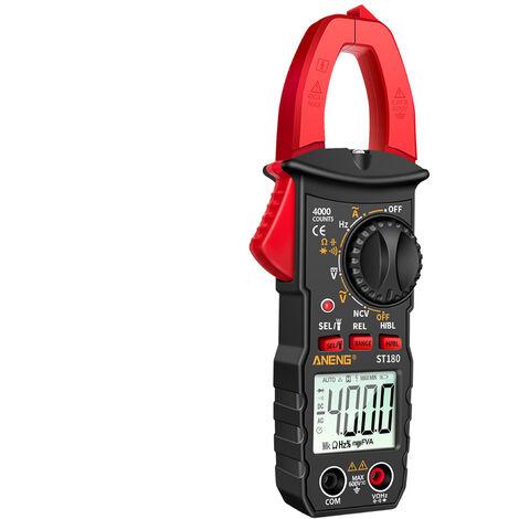 I morsetti ST180, la corrente digitale del morsetto e un metro, il multimetro a forma di film digitale, la tavola universale della tensione DC, senza consegna della batteria, rosso