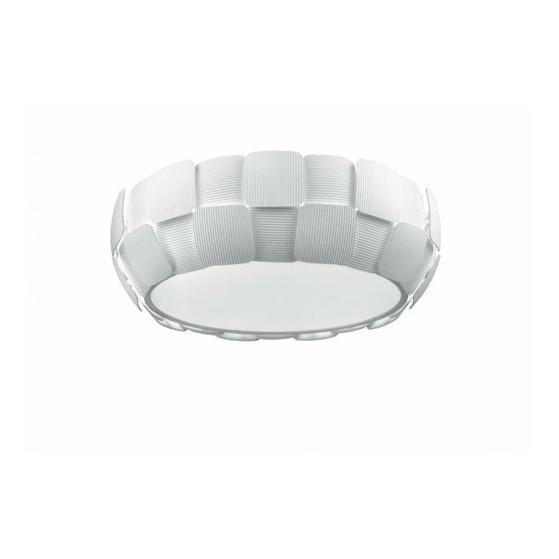 Applique bianca moderna con decoro a quadri 13 watt E14
